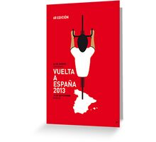 MY VUELTA MINIMAL POSTER - 2013 Greeting Card