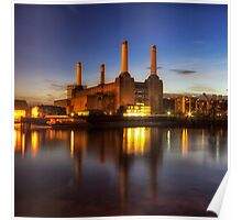 Battersea Twilight Poster