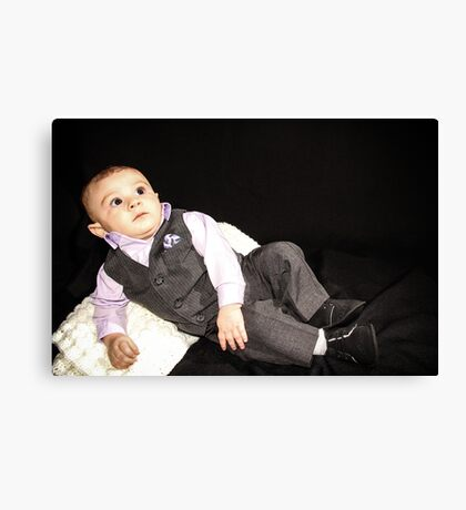 Ollie in his Tux 2 Canvas Print