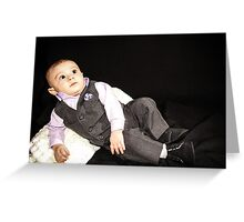 Ollie in his Tux 2 Greeting Card