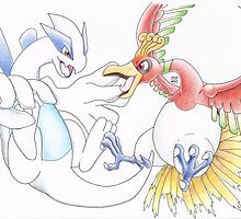 Lugia and Ho-Oh by StuffDraws