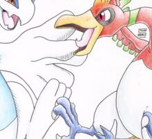 Lugia and Ho-Oh Sticker