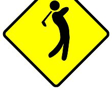 Golfer Crossing Sign by kwg2200