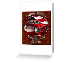 Dodge Charger SRT8 Muscle Car Team Greeting Card