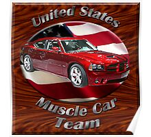 Dodge Charger SRT8 Muscle Car Team Poster