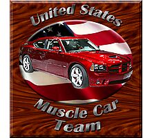 Dodge Charger SRT8 Muscle Car Team Photographic Print