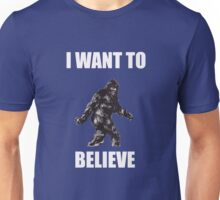 Bigfoot- I want to believe (a) Unisex T-Shirt