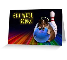 Get Well Soon Angel Sheltie Puppy Greeting Card