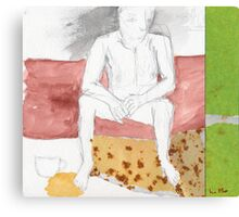 And in the bedroom floor the coffee cup without you Canvas Print