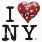 I heart NY - Banksy New York Souvenir  by PROM11