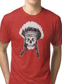 Skull Indian Headdress Tri-blend T-Shirt