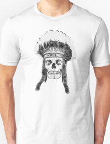 Skull Indian Headdress Unisex T-Shirt
