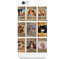 One Piece Post Wanted iPhone Case/Skin