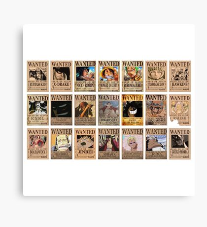 One Piece Post Wanted Canvas Print