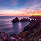Sunset over Kynance Cove by Stuart  Gennery