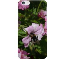 Pink Blossom And Bumble Bee iPhone Case/Skin