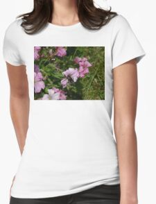 Pink Blossom And Bumble Bee Womens Fitted T-Shirt