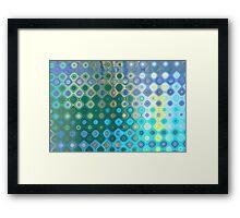 Circular water transformation Framed Print
