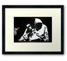 Hood - Banksy Framed Print