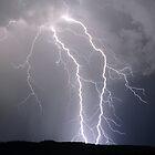 Twin bolts near Millmerran, Queensland Australia. by GrantRolphPhoto