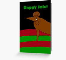 Jule Goat Greeting Card