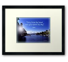 Zurich and Rumi Framed Print