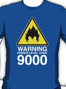 WARNING: Power Level Over 9000 T-Shirt