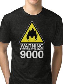WARNING: Power Level Over 9000 Tri-blend T-Shirt