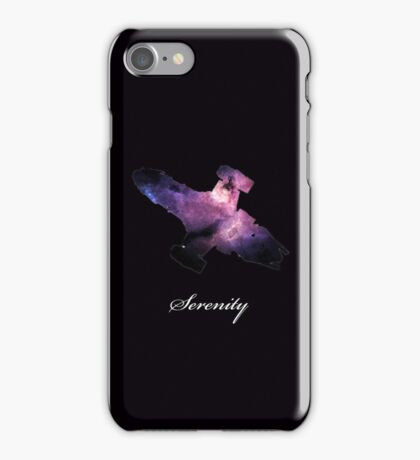 Serenity Ship with Writing iPhone Case/Skin