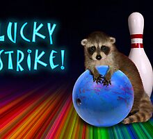 Lucky Strike Raccoon by jkartlife