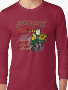 Bigg Knutz Lawn Mower Racing Long Sleeve T-Shirt