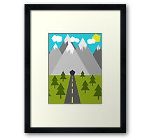 Nature Low-Poly Framed Print