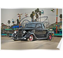1936 Ford 'Fun Ride' Coupe Poster