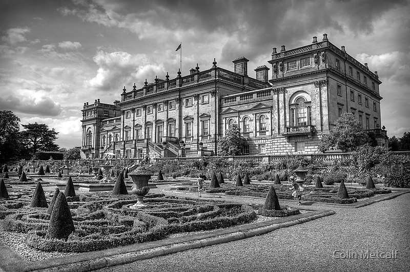 Harewood House #1 Mono by Colin Metcalf