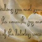 Candlelight rose - holiday card by Celeste Mookherjee