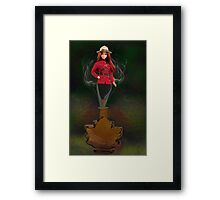 █ ♥ █ GENIE ~MAPLE LEAF ~ROYAL CANADIAN MOUNTED POLICE PICTURE/CARD █ ♥ █  Framed Print
