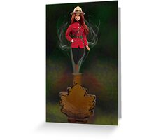 █ ♥ █ GENIE ~MAPLE LEAF ~ROYAL CANADIAN MOUNTED POLICE PICTURE/CARD █ ♥ █  Greeting Card