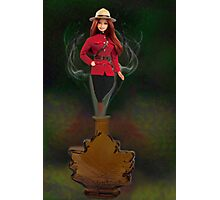 █ ♥ █ GENIE ~MAPLE LEAF ~ROYAL CANADIAN MOUNTED POLICE PICTURE/CARD █ ♥ █  Photographic Print