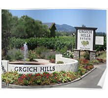 Grgich Hills Estate Napa Valley Winery Poster