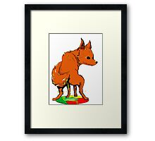 Firefox pee on Chrome Framed Print