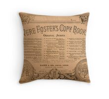 Nineteenth Century Vere Foster Copy Book Throw Pillow