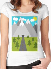 Nature Low-Poly Women's Fitted Scoop T-Shirt