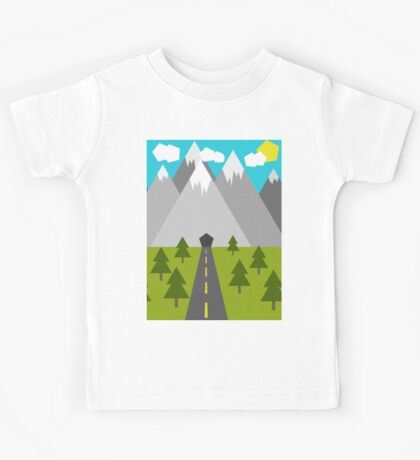 Nature Low-Poly Kids Tee