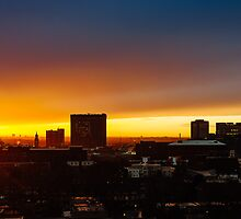 Croydon Skyline - Cloudy Sunset by Randall Murrow