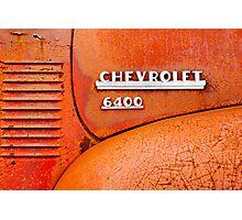 Rusty Orange Chevy 6400 Pickup Truck Photographic Print