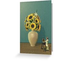 Painting Sunflowers - Surrealism Greeting Card