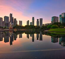 Colourful Sunrise at KLCC Park by Nur Ismail Mohammed