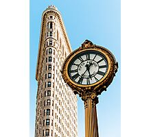Flatiron Building - Clock - Fifth Avenue - New York City Photograph Photographic Print