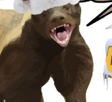 Honey Badger Merry Freakin' Christmas Sticker