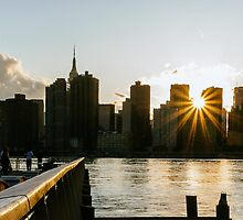 New York City Skyline - Sunset - Gantry Plaza by Randall Murrow